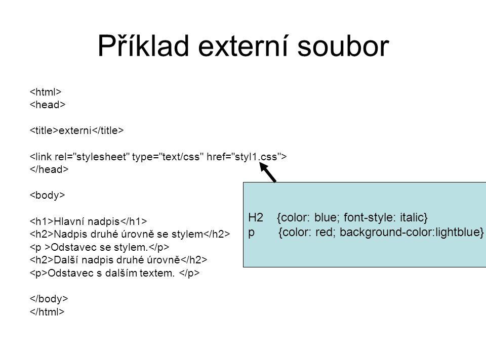 Příklad externí soubor