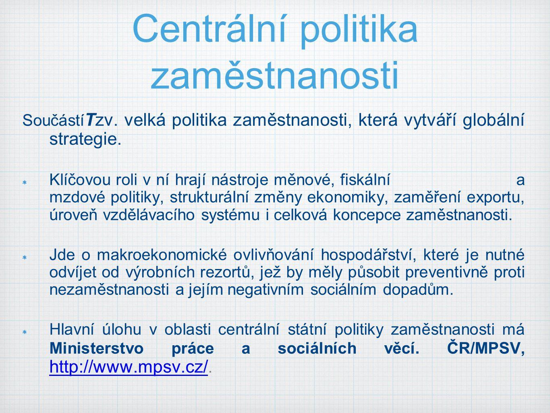 Centrální politika zaměstnanosti