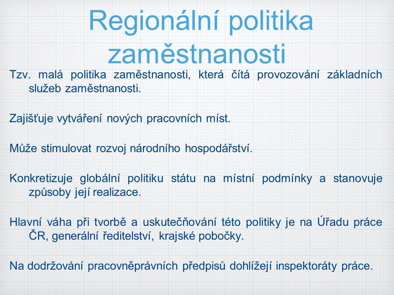 Regionální politika zaměstnanosti