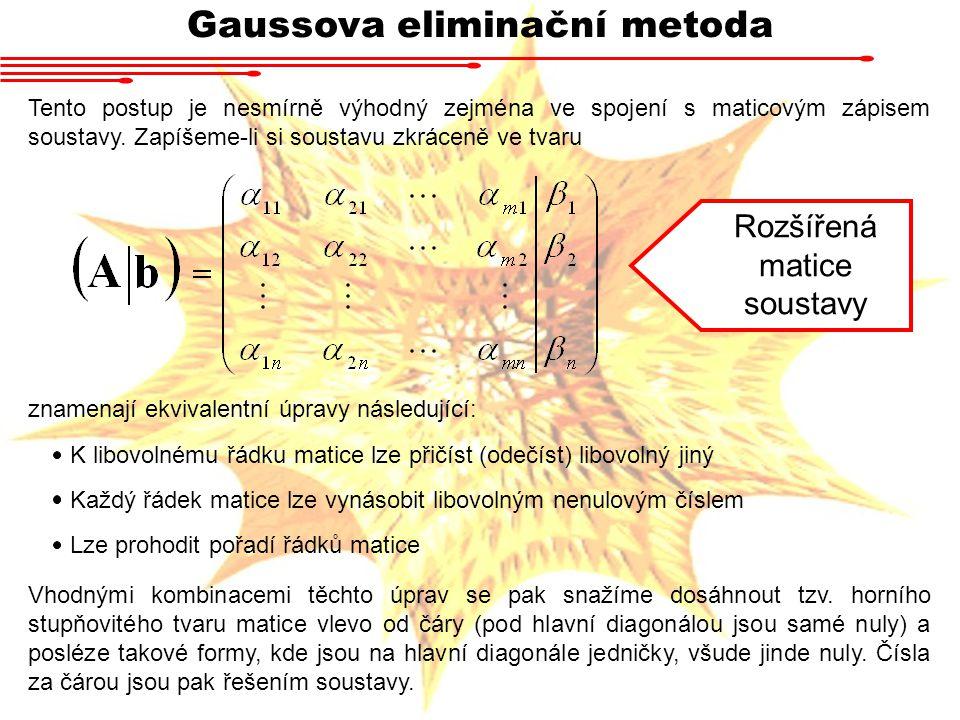 Gaussova eliminační metoda