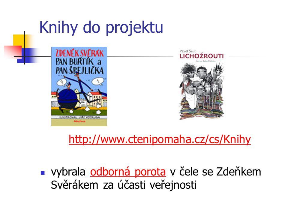 Knihy do projektu http://www.ctenipomaha.cz/cs/Knihy