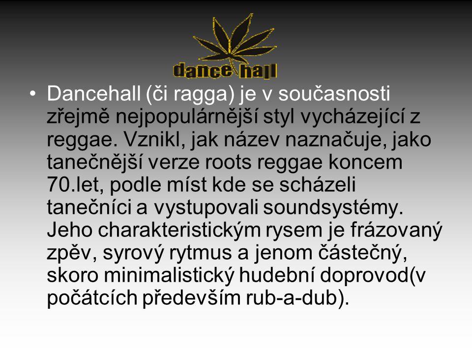 Dancehall (či ragga) je v současnosti zřejmě nejpopulárnější styl vycházející z reggae.