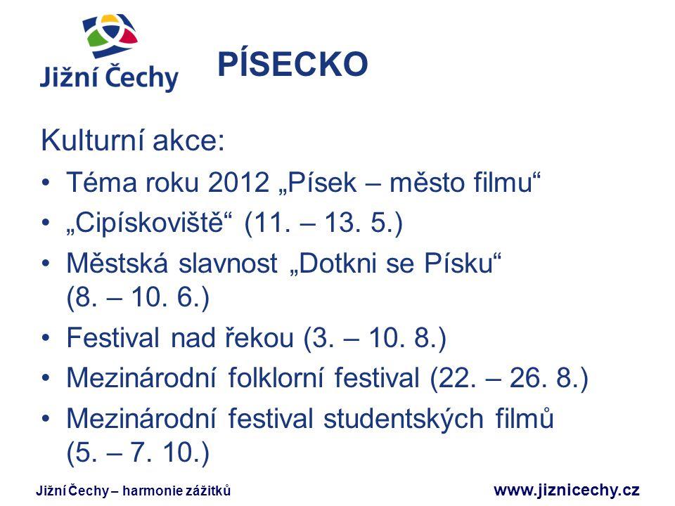 """PÍSECKO Kulturní akce: Téma roku 2012 """"Písek – město filmu"""