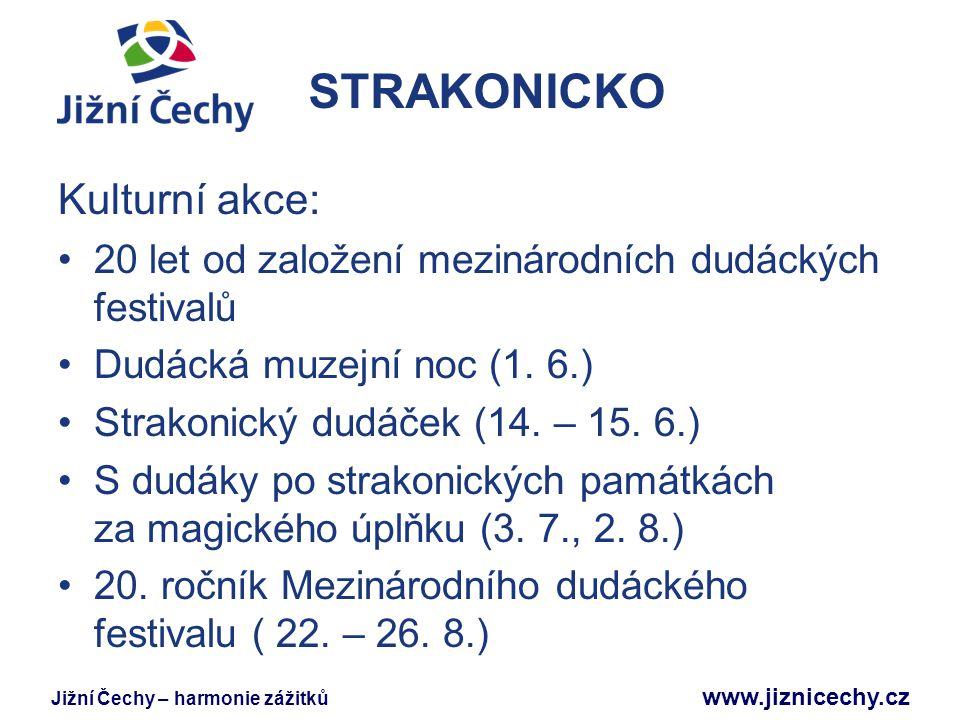 STRAKONICKO Kulturní akce: