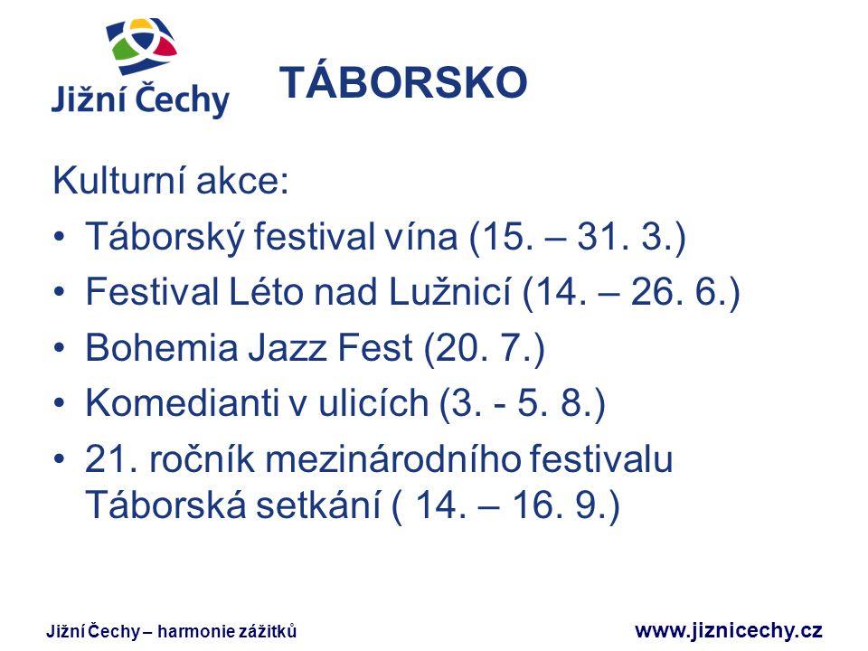 TÁBORSKO Kulturní akce: Táborský festival vína (15. – 31. 3.)