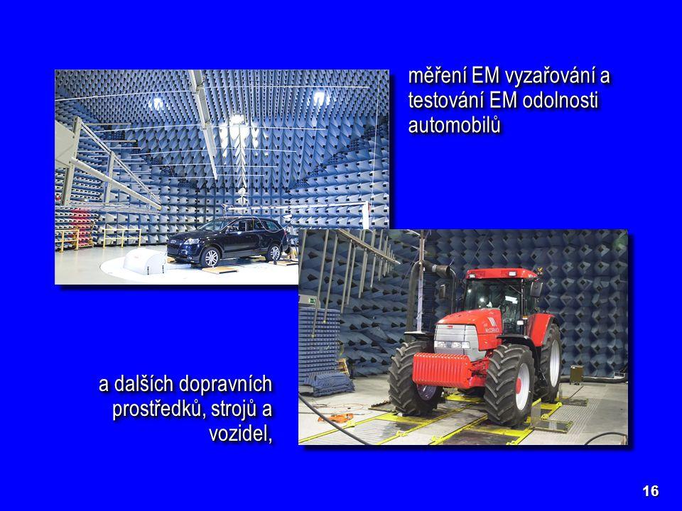 měření EM vyzařování a testování EM odolnosti automobilů