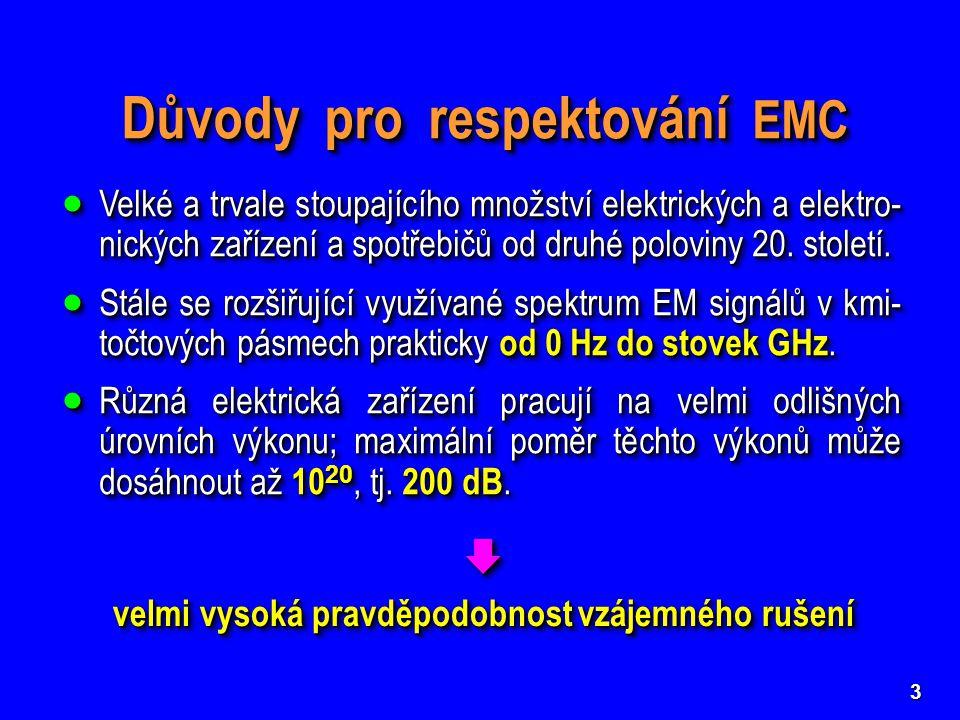 Důvody pro respektování EMC