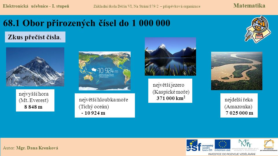 68.1 Obor přirozených čísel do 1 000 000