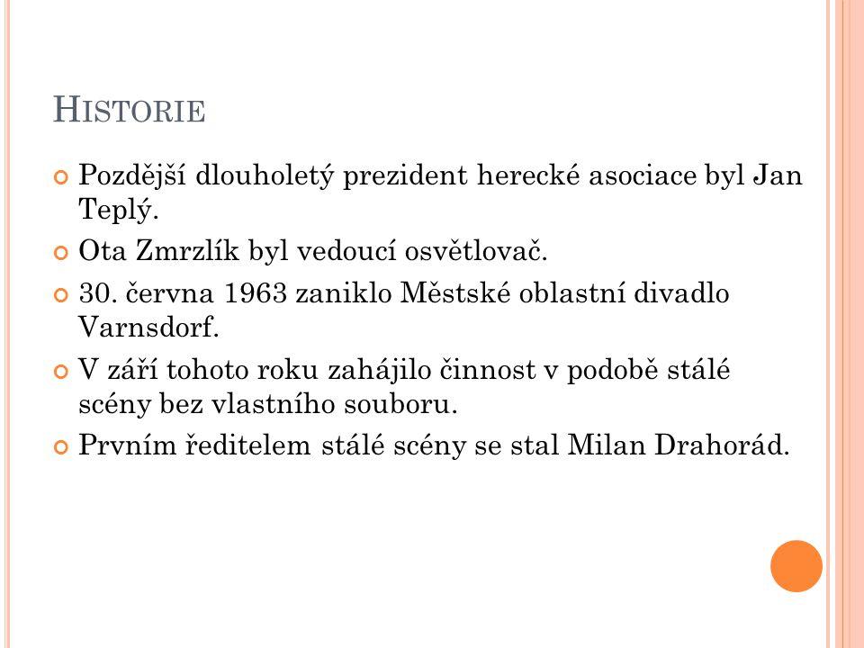 Historie Pozdější dlouholetý prezident herecké asociace byl Jan Teplý.