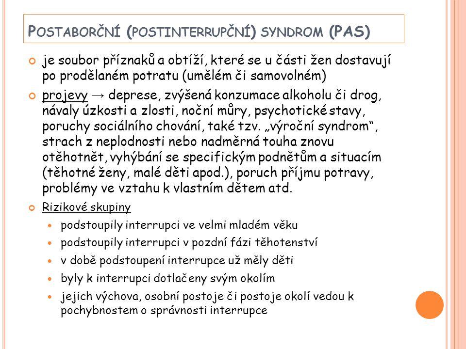 Postaborční (postinterrupční) syndrom (PAS)