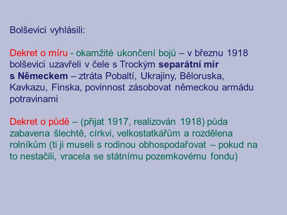 Bolševici vyhlásili: