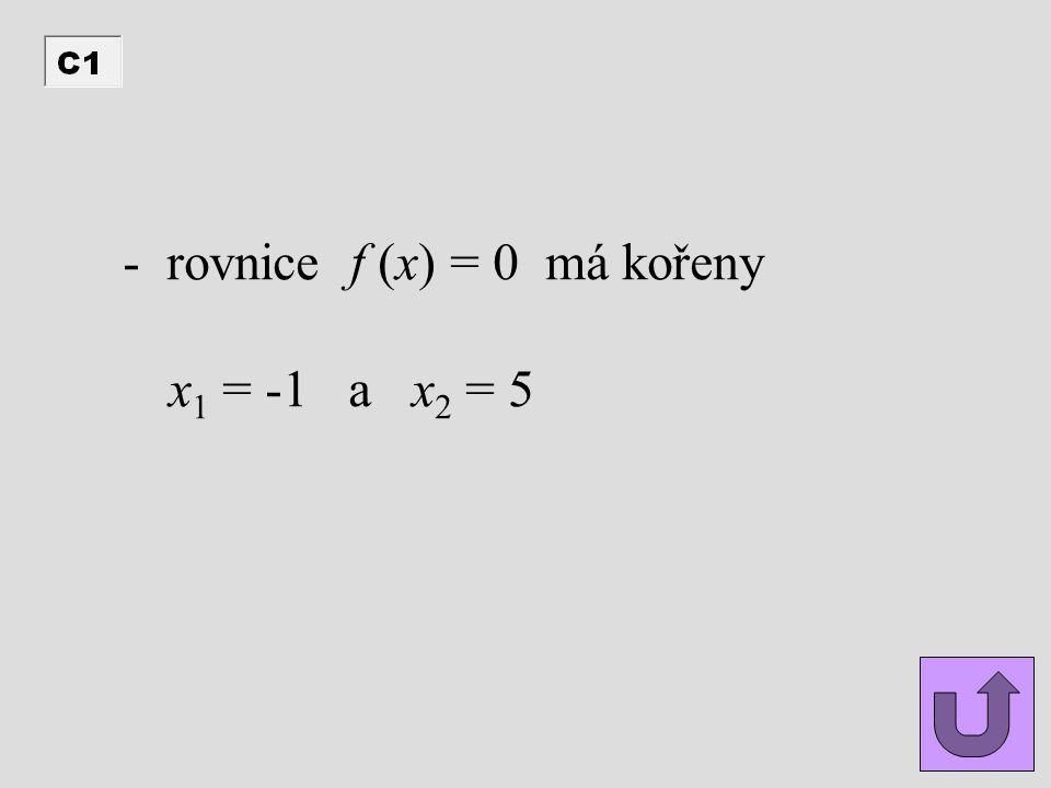 rovnice f (x) = 0 má kořeny