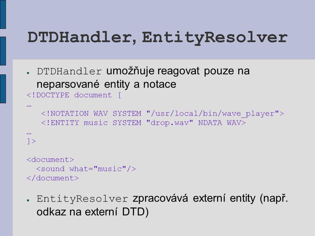 DTDHandler, EntityResolver