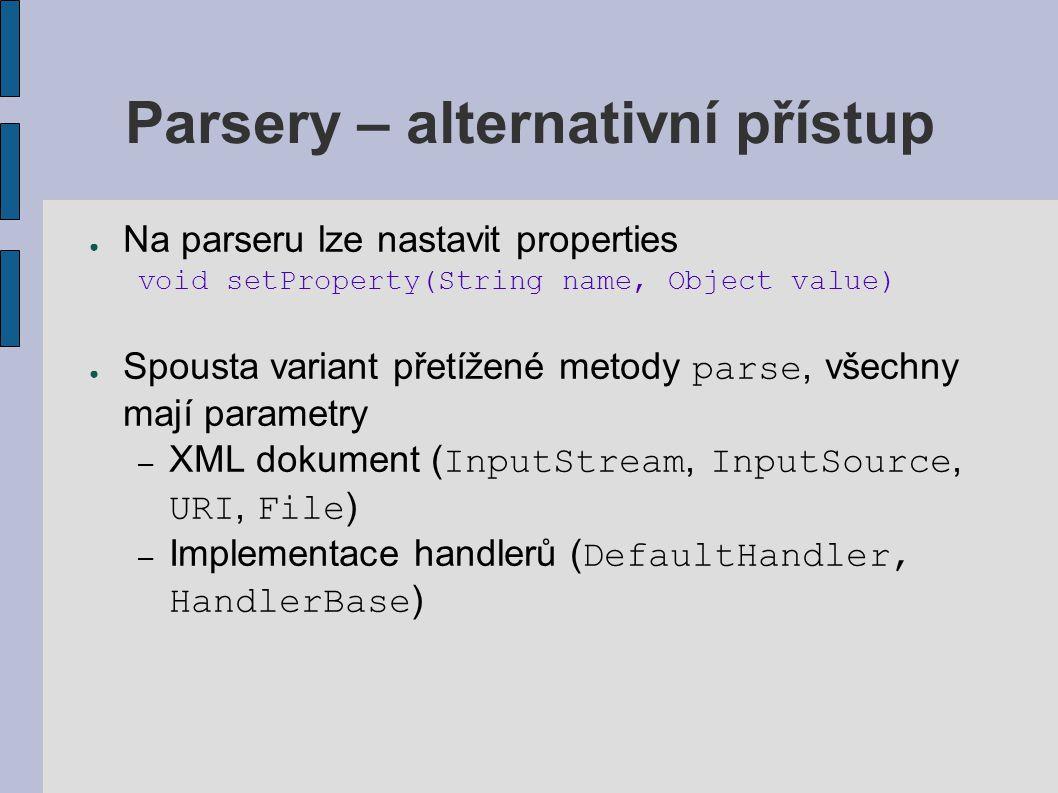 Parsery – alternativní přístup