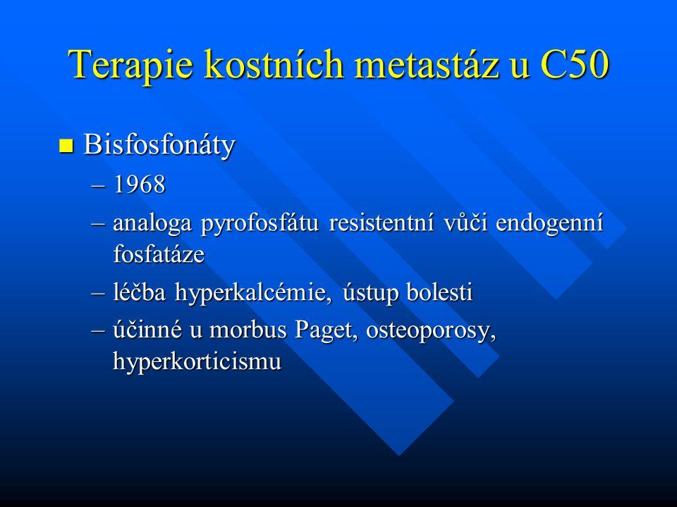 Terapie kostních metastáz u C50