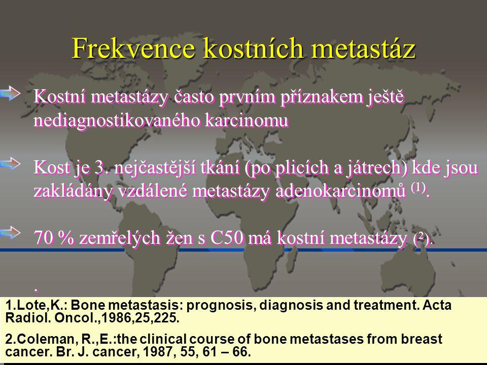 Frekvence kostních metastáz