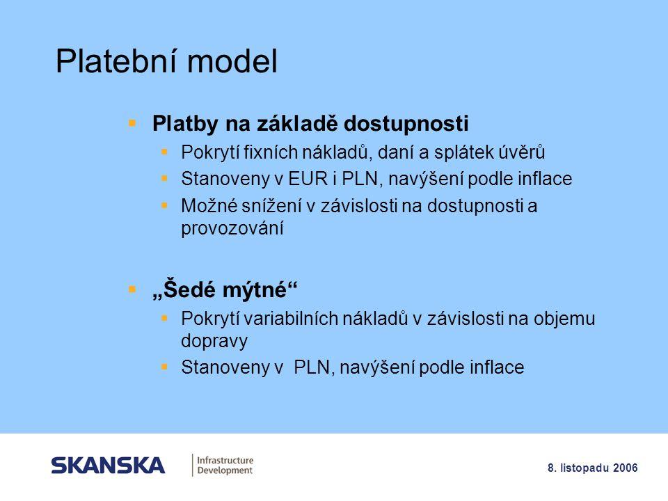 """Platební model Platby na základě dostupnosti """"Šedé mýtné"""