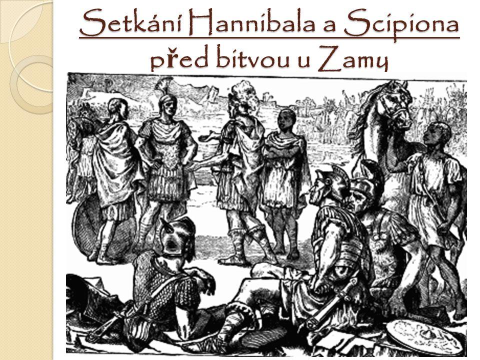 Setkání Hannibala a Scipiona před bitvou u Zamy