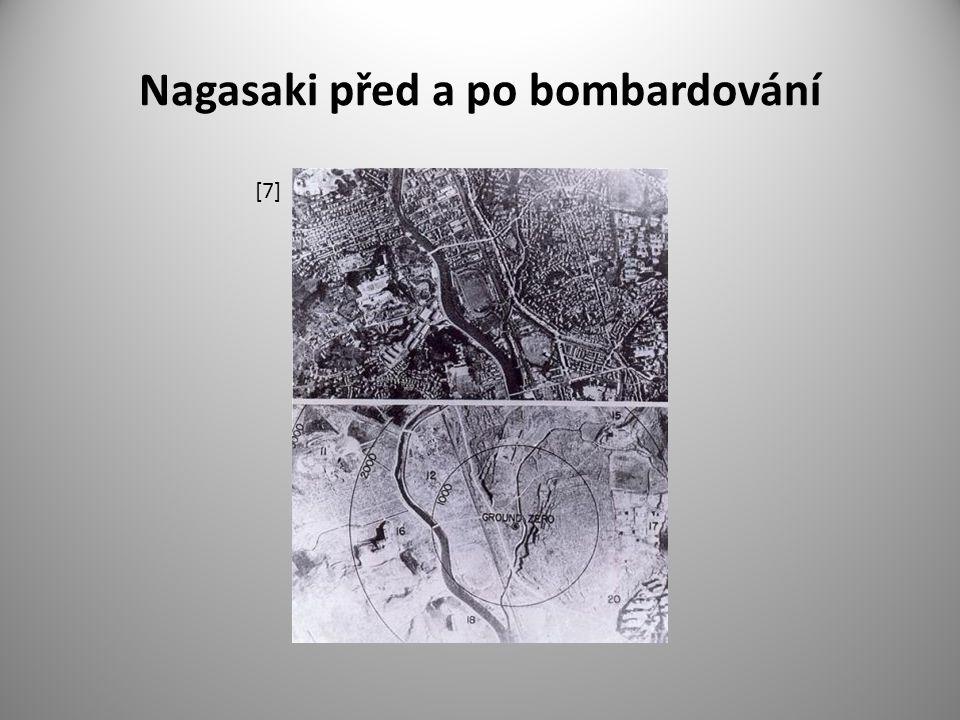 Nagasaki před a po bombardování