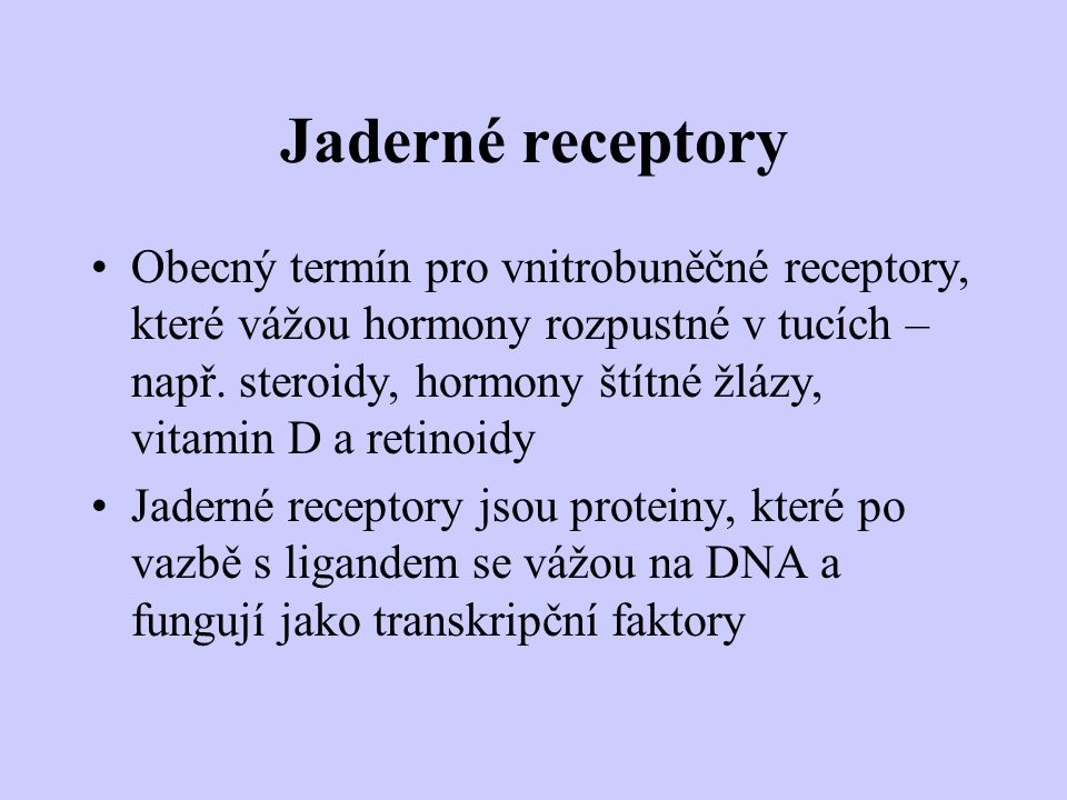 Jaderné receptory