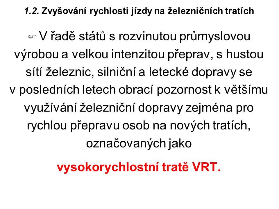 vysokorychlostní tratě VRT.