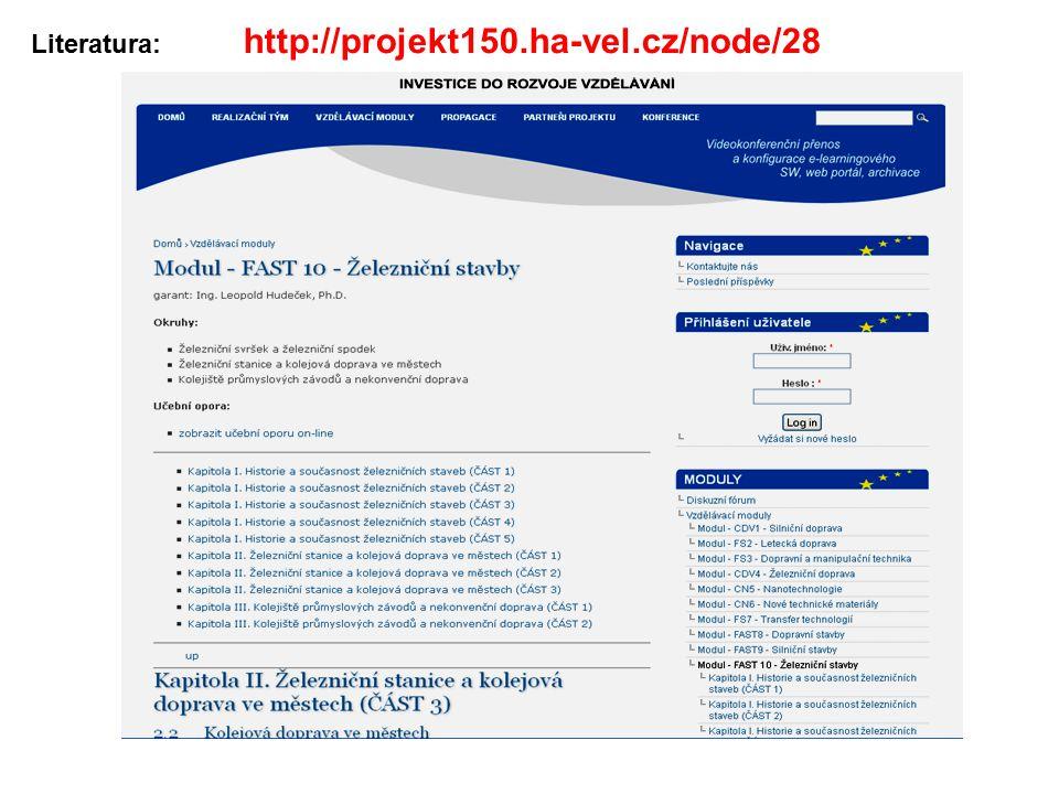 Literatura: http://projekt150.ha-vel.cz/node/28