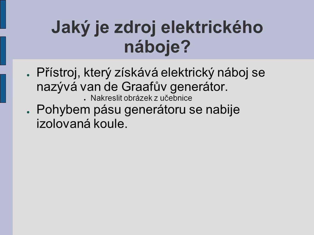 Jaký je zdroj elektrického náboje