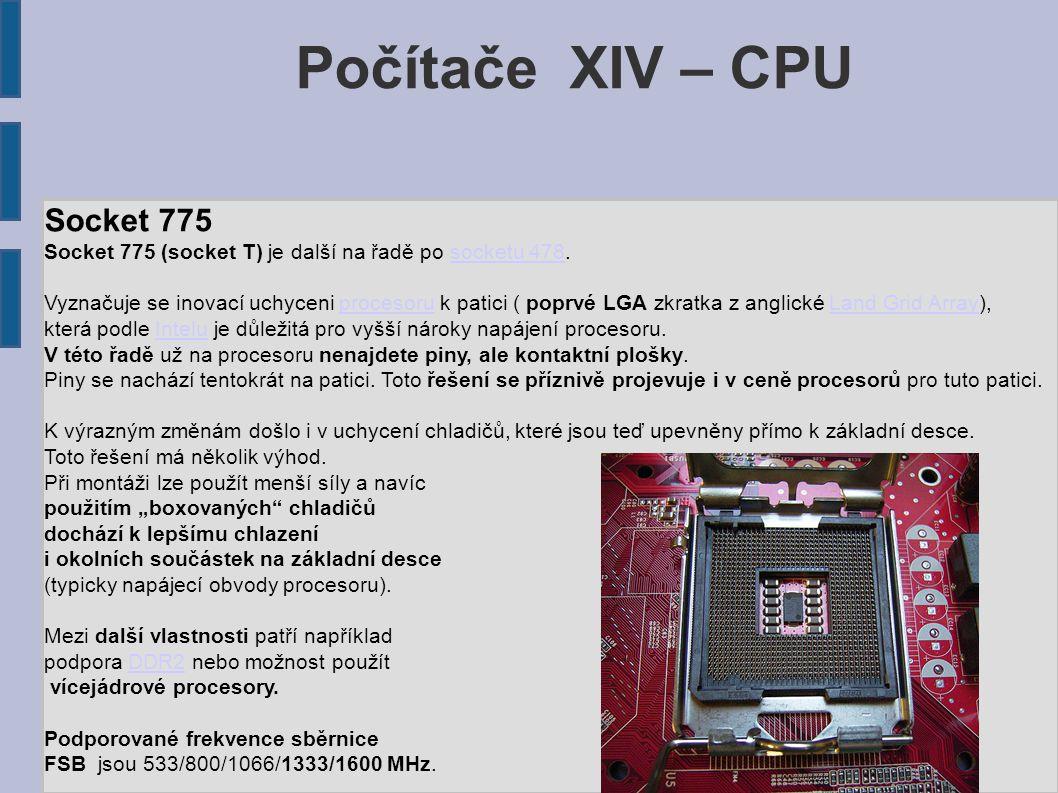Počítače XIV – CPU Socket 775