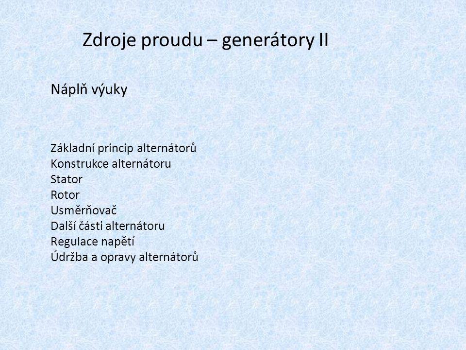 Zdroje proudu – generátory II