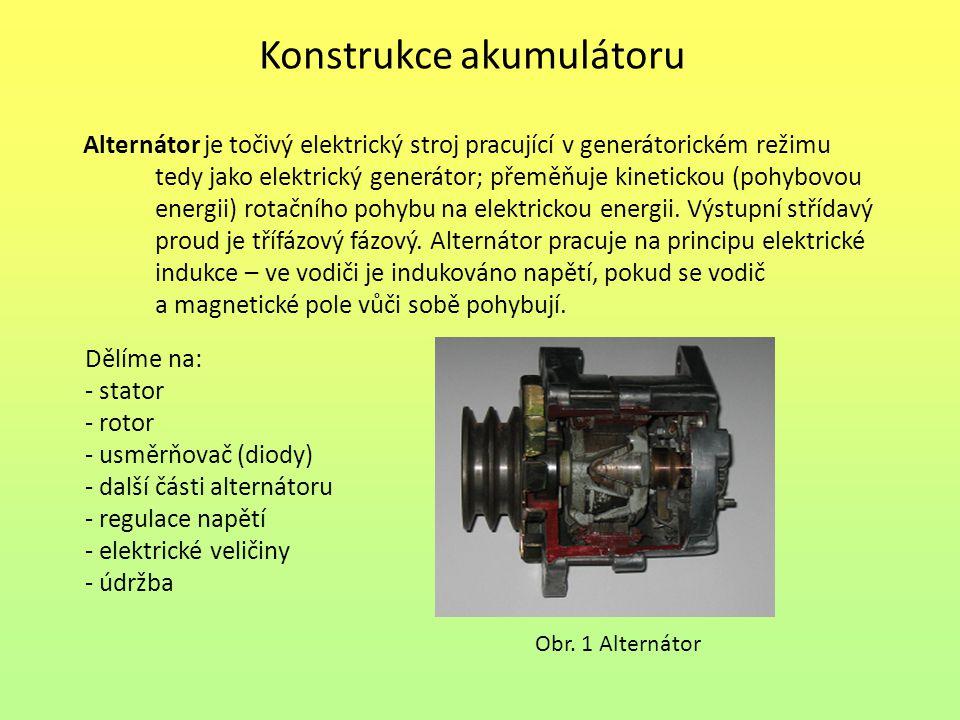 Konstrukce akumulátoru