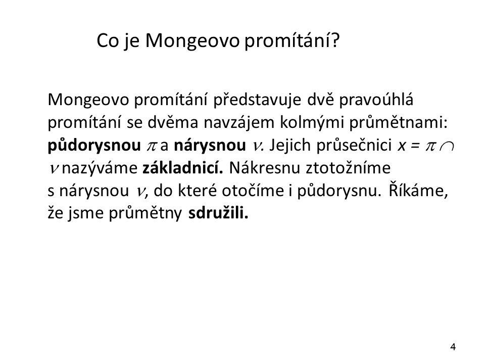 Co je Mongeovo promítání