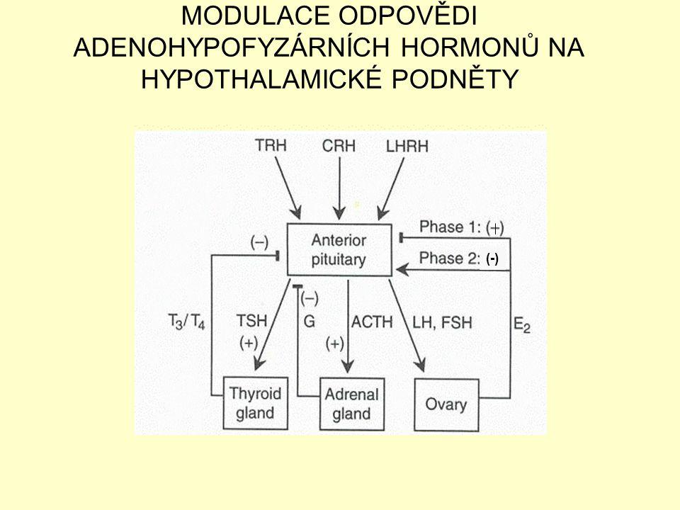 MODULACE ODPOVĚDI ADENOHYPOFYZÁRNÍCH HORMONŮ NA HYPOTHALAMICKÉ PODNĚTY