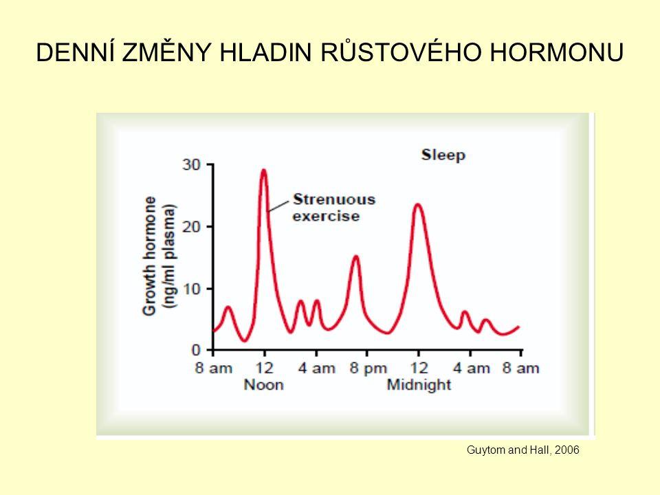 DENNÍ ZMĚNY HLADIN RŮSTOVÉHO HORMONU