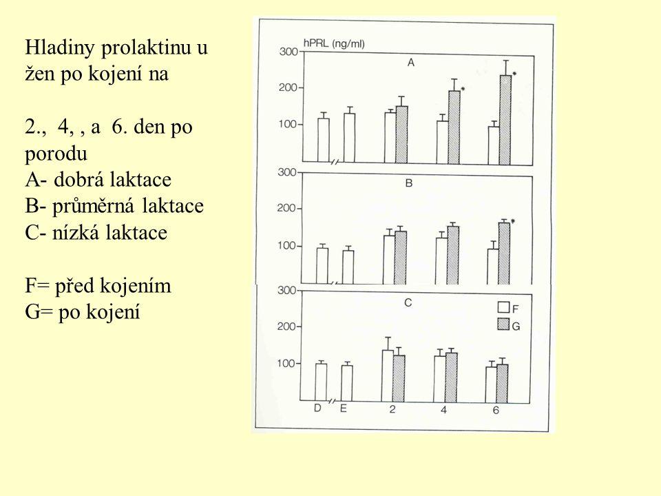 Hladiny prolaktinu u žen po kojení na