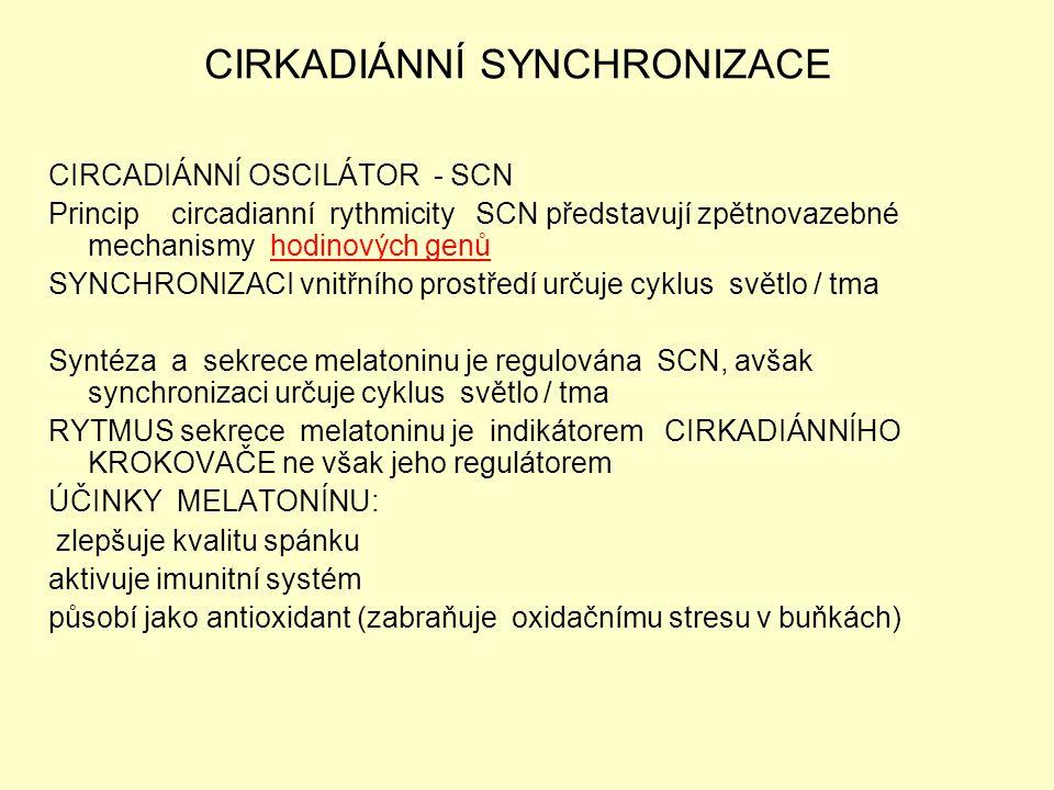 CIRKADIÁNNÍ SYNCHRONIZACE