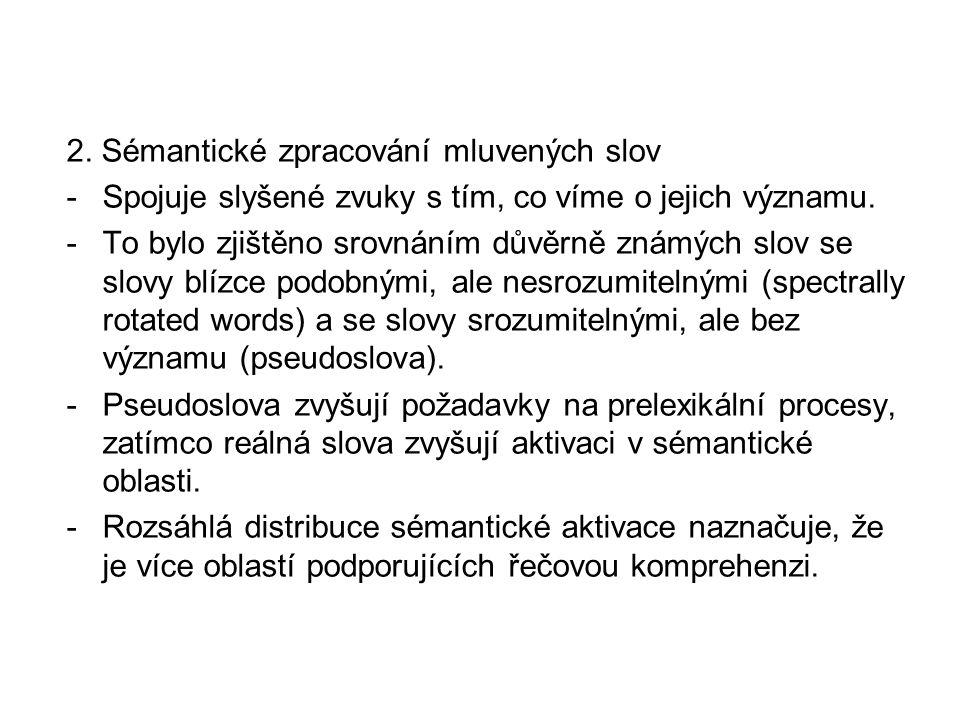 2. Sémantické zpracování mluvených slov