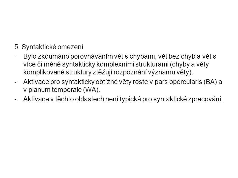 5. Syntaktické omezení