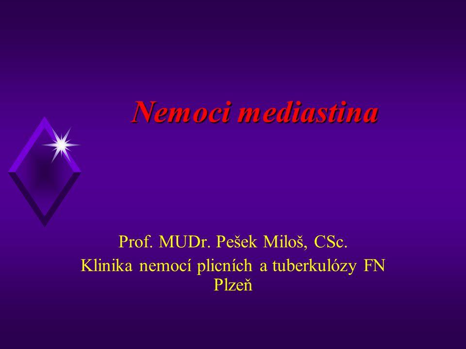 Nemoci mediastina Prof. MUDr. Pešek Miloš, CSc.