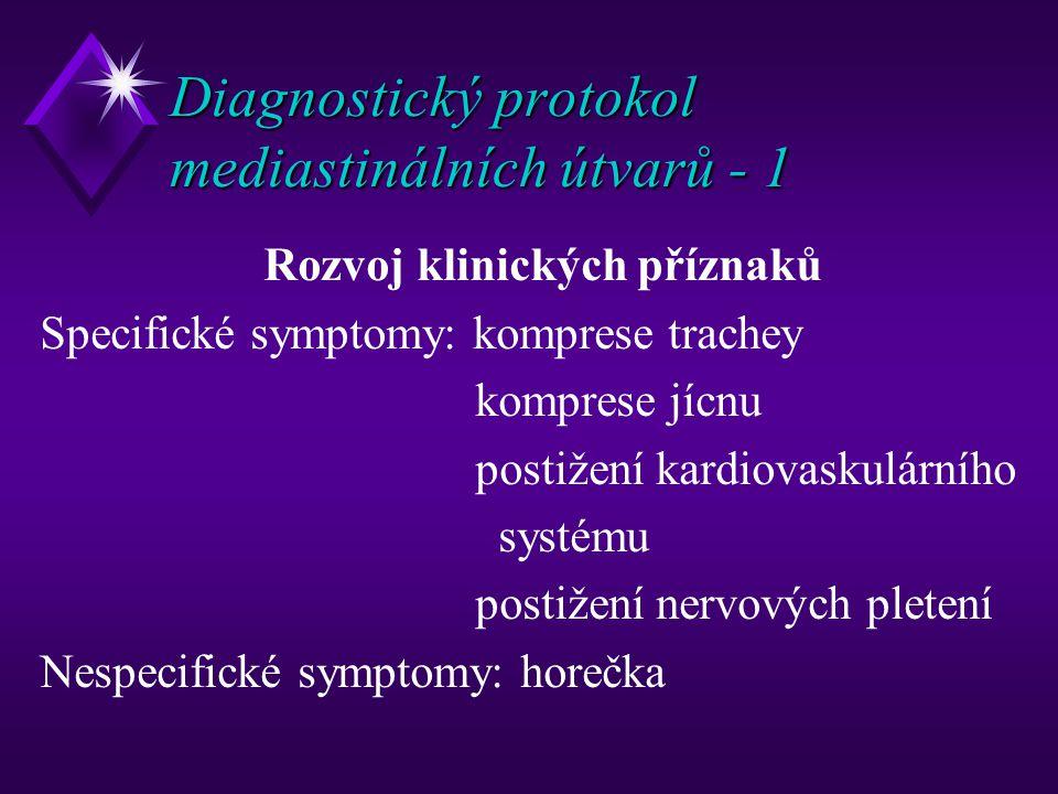 Diagnostický protokol mediastinálních útvarů - 1
