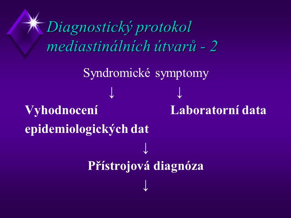 Diagnostický protokol mediastinálních útvarů - 2