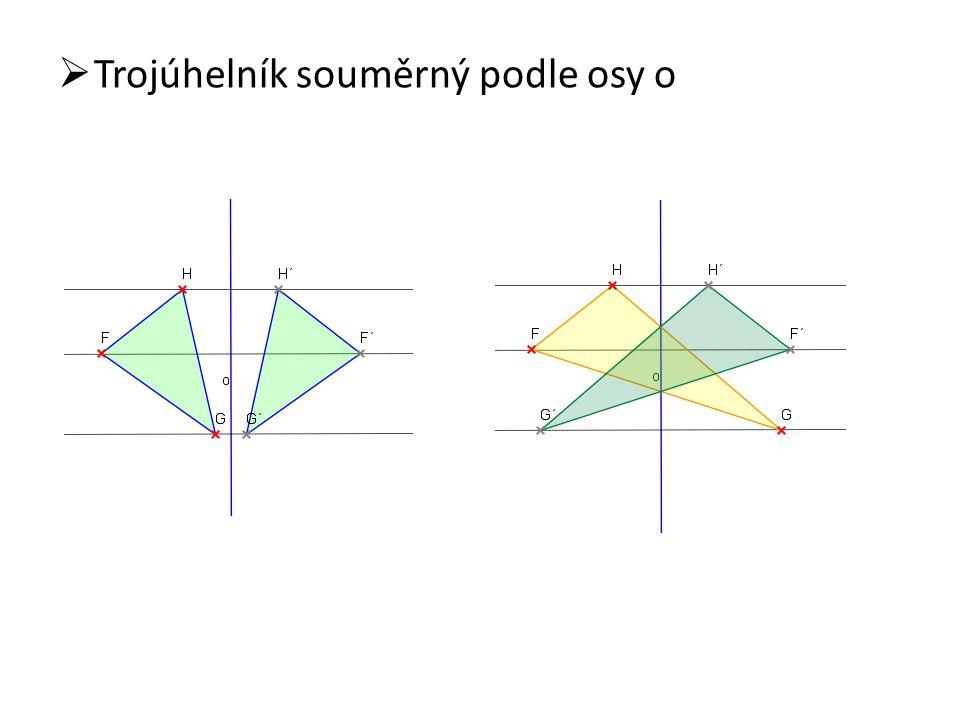 Trojúhelník souměrný podle osy o