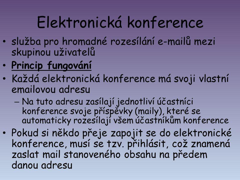 Elektronická konference
