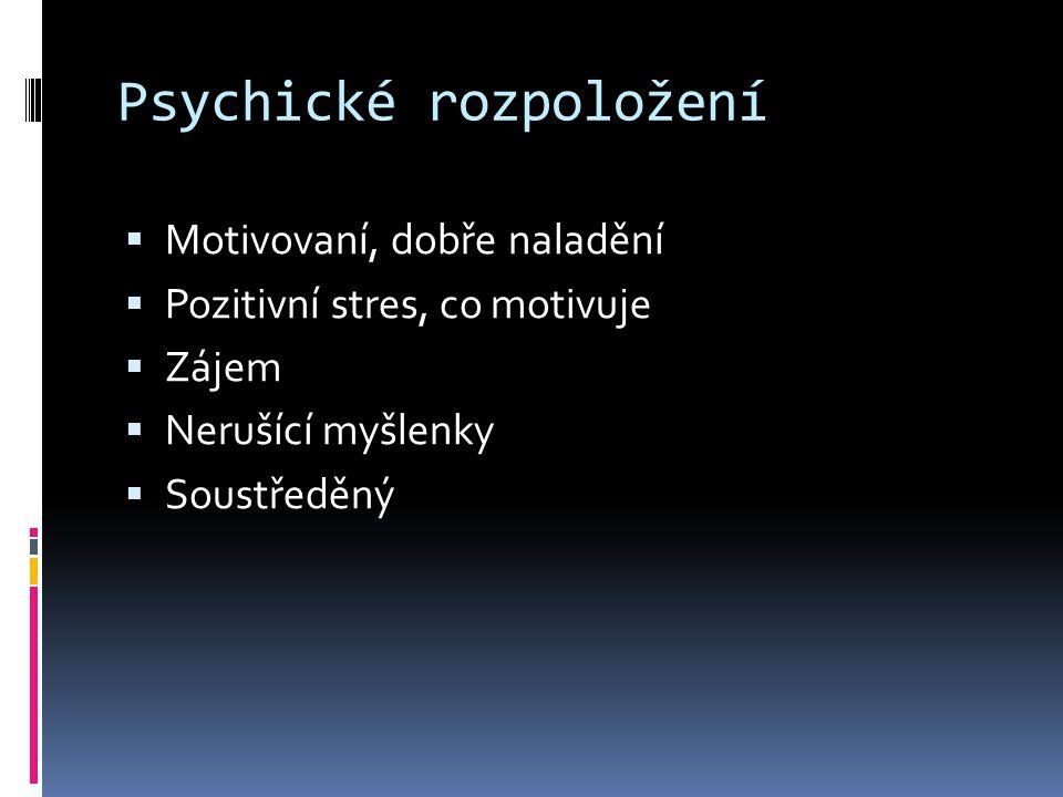 Psychické rozpoložení