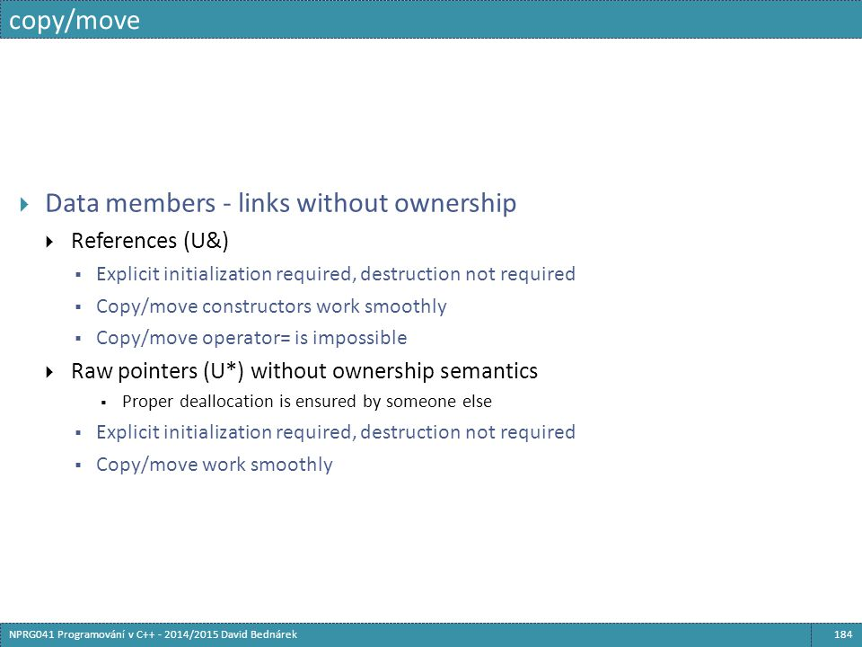 Data members - links without ownership