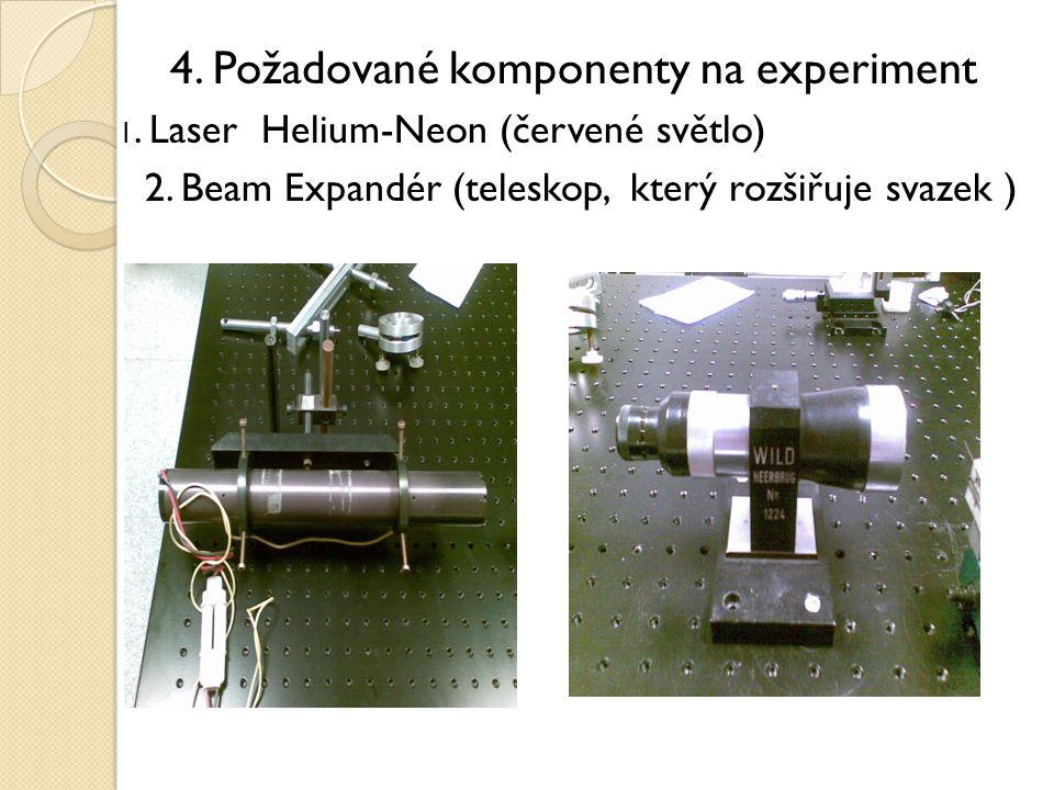 4. Požadované komponenty na experiment