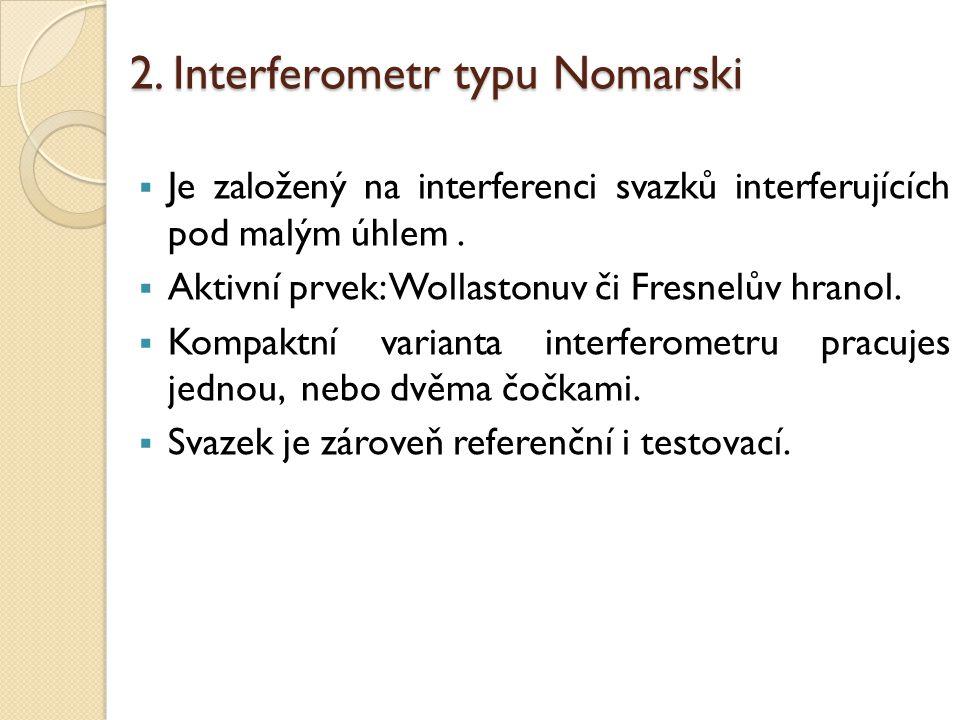 2. Interferometr typu Nomarski