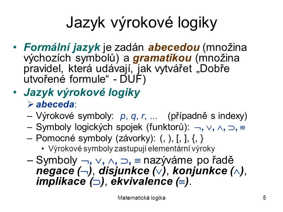 Jazyk výrokové logiky