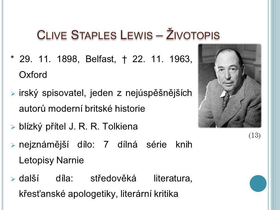 Clive Staples Lewis – Životopis