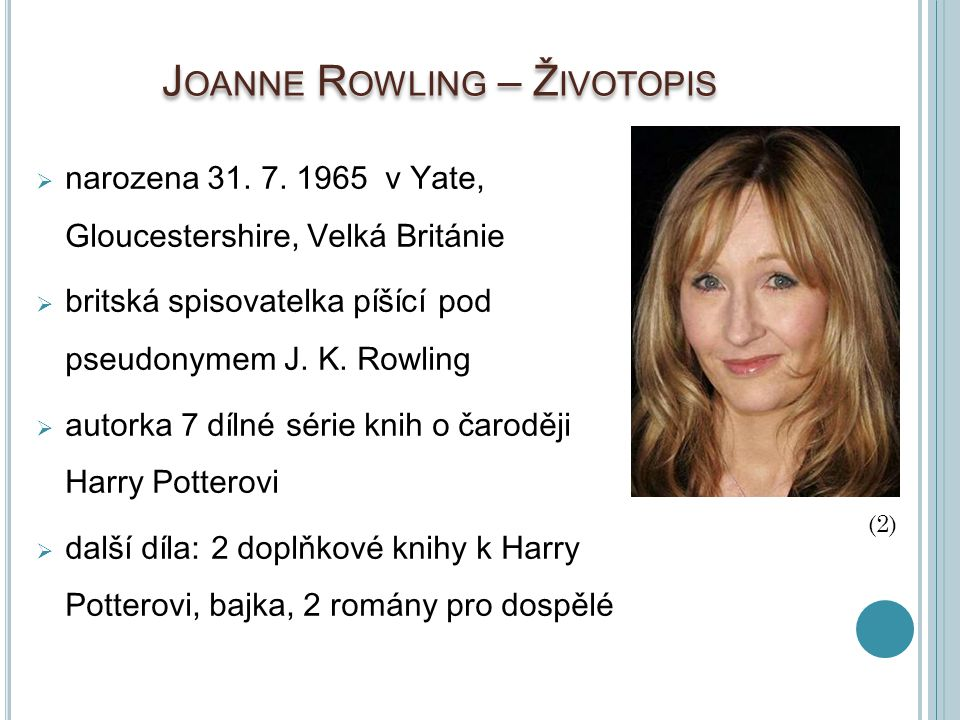 Joanne Rowling – Životopis
