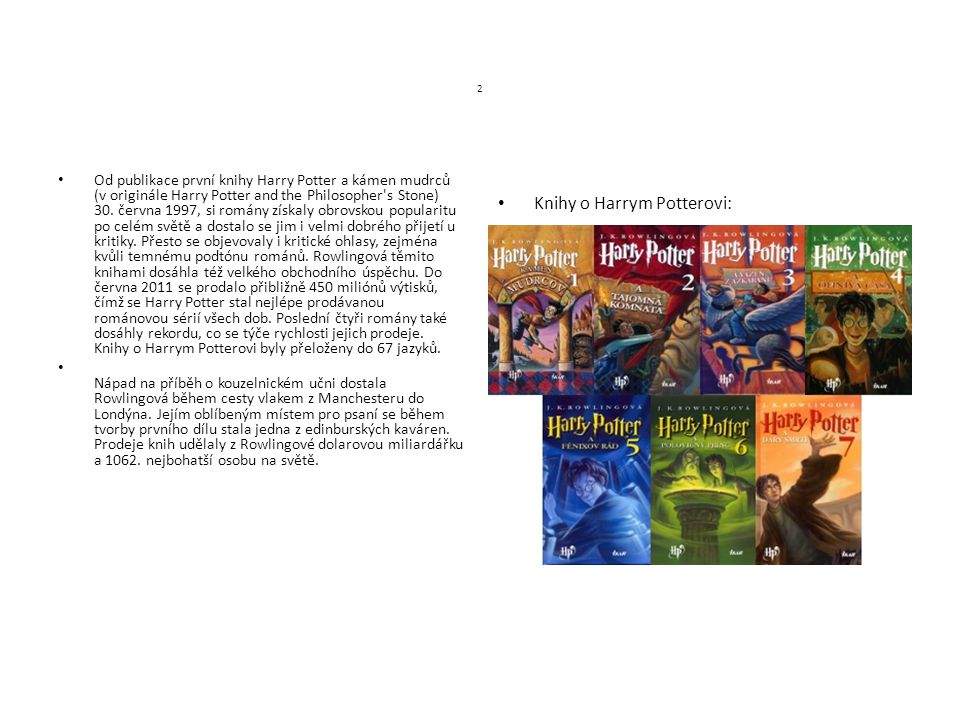 Knihy o Harrym Potterovi: